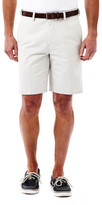 Haggar Cotton Twill Short - Classic Fit, Flat Front, Expandable Waistband