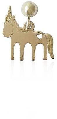 Daixa Somed Mini Unicorn Earring - Silver