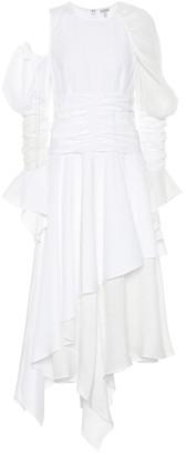 Loewe Gathered cotton and linen dress