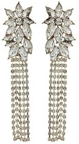 GUESS Clustered Stone Top w/ Chain Drop Chandelier Earrings (Gold) Earring