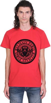 Balmain T-shirt In Red Cotton