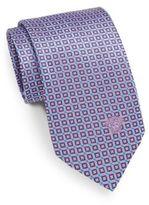 Versace Square-Print Silk Tie