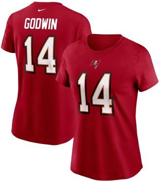 Nike Women's Chris Godwin Red Tampa Bay Buccaneers Team Player Name & Number T-Shirt