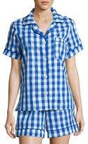 BedHead Gingham Shorty Pajama Set, Navy, Plus Size