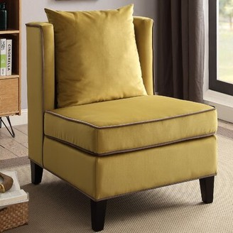 Grove Lane Albion Slipper Chair Grovelane Upholstery: Yellow
