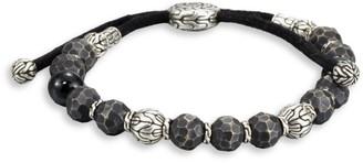 John Hardy Black Tourmaline, Sterling Silver and Black Bronze Bead Bracelet