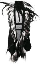 Ann Demeulemeester feather trimmed gilet