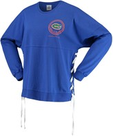 Unbranded Women's Royal Florida Gators Chunky Side Lace-Up Spirit Jersey T-Shirt