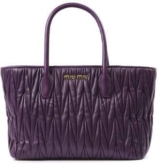 Miu Miu Purple Matelasse Leather Bag
