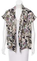 Suno Floral Print Open Front Top