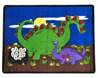 Kids World Carpets Dino Land Blue/Green/Black Rug