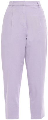 Current/Elliott The Keats Cropped Cotton-blend Twill Tapered Pants