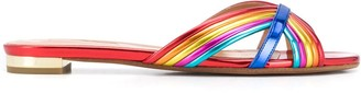 Aquazzura Rainbow Slip-On Sandals
