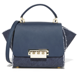 Zac Posen Denim Eartha Iconic Cross Body Bag
