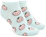 Forever 21 FOREVER 21+ Happy Peach Print Ankle Socks