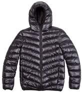 Burton Mens Black Glacier Quilted Hooded Jacket