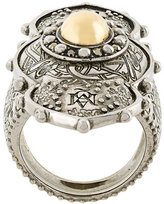 Alexander McQueen embellished plate ring