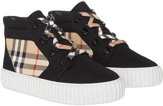 BURBERRY KIDS Vintage Check hi-top sneakers