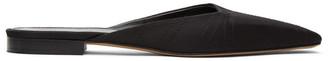 Totême SSENSE Exclusive Black Satin Slippers