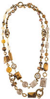 Stephen Dweck Beaded Double Strand Necklace