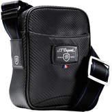 S.t. Dupont S.T.Dupont Défi carbon leather small cross shoulder bag