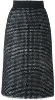 Dolce & Gabbana bouclé midi skirt
