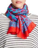 Kate Spade Tangier Mixed Floral Oblong Scarf