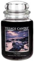 Village Candle Obsidian Glass Jar Candle, Dark Blue, Large