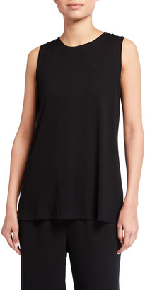 Eileen Fisher Lightweight Viscose Jersey Long Tank