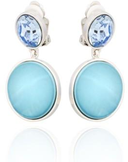 T Tahari Stone and Shells Clip Drop Earring