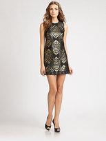 ABS by Allen Schwartz Brocade Dress