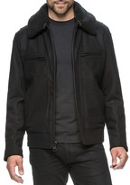 Andrew Marc Concord Faux Shearling Trim Bomber Jacket