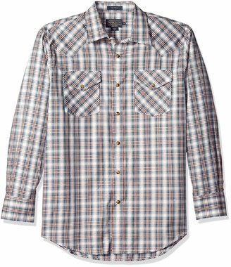 Pendleton Men's Long Sleeve Button Front Classic-fit Frontier Shirt