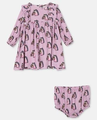 Stella Mccartney Kids Baby Horses Viscose Twill Dress, Unisex