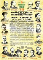 Platinum 1916 Executed Leaders and The Proclamation of the Irish Republic - POBLACHT NA H EIREANN A3 Poster