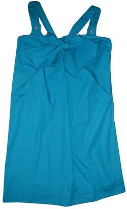 Gianfranco Ferre Blue Cotton Dress for Women