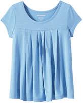 Joe Fresh Kid Girls' All Over Pleat Top, Blue (Size L)