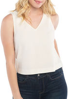 Kensie Love Poetry Stretch Crepe Sleeveless Top
