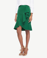 Ann Taylor Ruffled Pencil Skirt