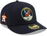 New Era Men's Navy Houston Astros Turn Back the Clock Apollo Throwback Low Profile 59FIFTY Fitted Hat