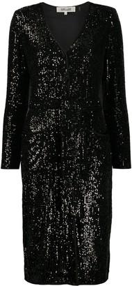Dvf Diane Von Furstenberg Melina sequined cocktail dress
