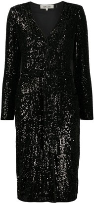 Diane von Furstenberg Melina sequined cocktail dress
