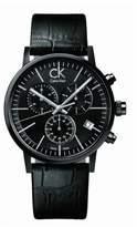 Calvin Klein Men's Post Minimal K7627401 Leather Quartz Watch with Dial