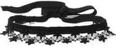 Anna Sui Crochet-trimmed Grosgrain Choker - Black