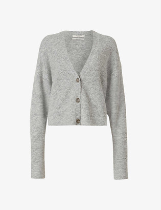 AllSaints Vika cropped wool-blend cardigan