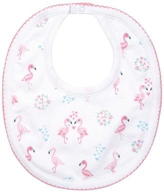 Kissy Kissy Flamingo Print Bib