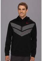 Nike KO Double Chevron Hoodie (Black/Gym Red) - Apparel