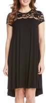 Karen Kane Women's Lace Yoke Cap Sleeve Swing Dress