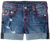True Religion Audrey Super T Boyfriend Shorts in Used Wash Girl's Shorts