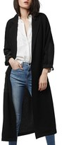 Topshop Contrast Panel Duster Coat
